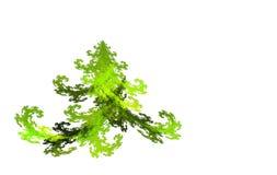 Árvore de Natal do Fractal no branco ilustração stock