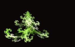 Árvore de Natal do Fractal no preto Fotografia de Stock