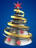árvore de Natal do metal 3D Foto de Stock