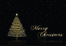 Árvore de Natal do ouro Foto de Stock Royalty Free