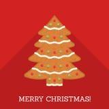 Árvore de Natal do pão-de-espécie ilustração royalty free