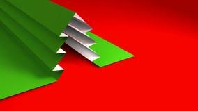 Árvore de Natal do papel do dobrador ilustração do vetor