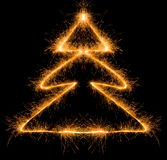 Árvore de Natal do Sparkler Foto de Stock Royalty Free
