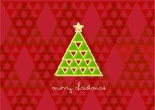 Árvore de Natal do triângulo Foto de Stock Royalty Free