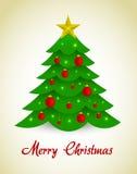Árvore de Natal do vetor Imagem de Stock Royalty Free