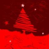 Árvore de Natal do vetor Fotografia de Stock