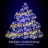 Árvore de Natal do vetor Fotografia de Stock Royalty Free