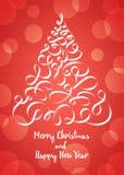 Árvore de Natal do vetor sob a forma das fitas Imagem de Stock