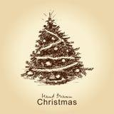 Árvore de Natal do vintage Fotografia de Stock Royalty Free
