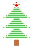 Árvore de Natal dos lápis Foto de Stock Royalty Free
