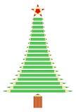 Árvore de Natal dos lápis Fotos de Stock