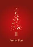 Árvore de Natal dourada ilustração royalty free