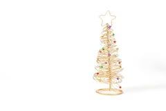 Árvore de Natal dourada imagens de stock royalty free
