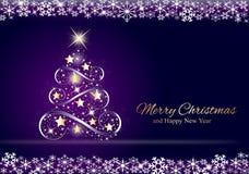 Árvore de Natal dourada Imagem de Stock