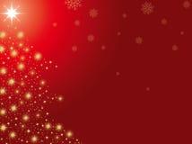 Árvore de Natal dourada Fotografia de Stock