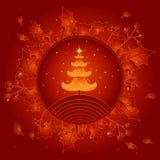 Árvore de Natal dourada, vetor   Fotografia de Stock