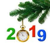 Árvore de Natal e 2019 imagens de stock