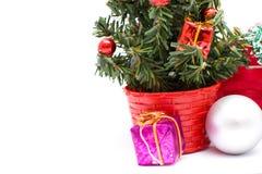 Árvore de Natal e decorações do Natal Imagem de Stock