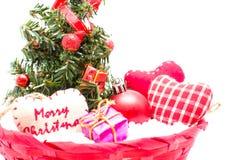 Árvore de Natal e decorações do Natal Fotografia de Stock Royalty Free