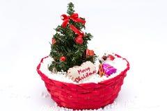 Árvore de Natal e decorações do Natal Foto de Stock Royalty Free