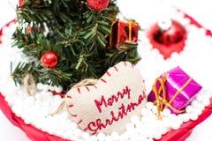 Árvore de Natal e decorações do Natal Fotografia de Stock