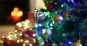 Árvore de Natal e decorações em casa filme