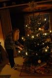 Árvore de Natal e presentes de Natal Fotografia de Stock Royalty Free