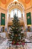 Árvore de Natal em Olympia Capitol Foto de Stock Royalty Free