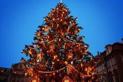Árvore de Natal em Praga Imagens de Stock Royalty Free
