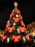 Árvore de Natal em Vilnius fotos de stock