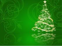 Árvore de Natal estilizado Foto de Stock Royalty Free