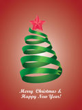 Árvore de Natal estilizado Imagens de Stock Royalty Free