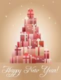 Árvore de Natal feita das caixas de presente Imagem de Stock Royalty Free