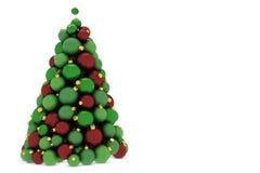 Árvore de Natal feita de esferas da árvore de Natal Fotos de Stock