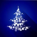 Árvore de Natal feita de partículas claras. Projeto liso Foto de Stock Royalty Free