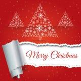 Árvore de Natal feita dos flocos de neve Eps 10 Ilustração do vetor Fotografia de Stock Royalty Free