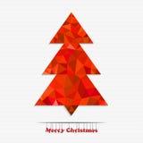 Árvore de Natal feita dos triângulos Foto de Stock Royalty Free