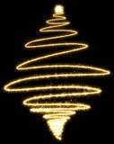 Árvore de Natal feita pelo chuveirinho em um fundo preto Imagens de Stock
