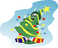 Árvore de Natal feliz Imagem de Stock Royalty Free