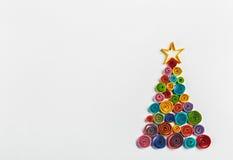 A árvore de Natal fez o ‹do †do ‹do †do papel imagem de stock