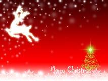 Decorações vermelhas do Natal Fotos de Stock