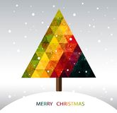 Árvore de Natal geométrica colorida Foto de Stock Royalty Free