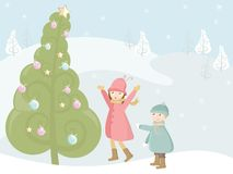 Árvore de Natal grande Imagem de Stock