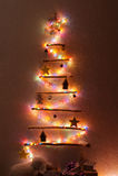 Árvore de Natal Handmade Imagem de Stock