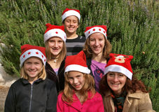 Árvore de Natal humana Imagem de Stock