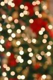 A árvore de Natal ilumina o sumário Imagens de Stock Royalty Free