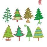 Árvore de Natal Ilustração do vetor Fotografia de Stock