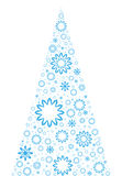 Árvore de Natal incomun ilustração stock