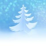 Árvore de Natal Jpg20150923102810048543 feito a mão branca com flocos de neve mágicos Imagens de Stock