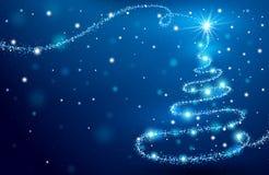 A árvore de Natal mágica ilustração do vetor
